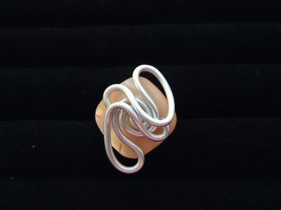 Anello Quadrato salmone