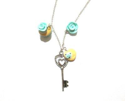 collana e orecchini  key menta pastello