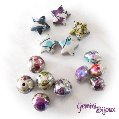 Lotto perle acrilico 5