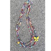 Collana di perline e perle di carta