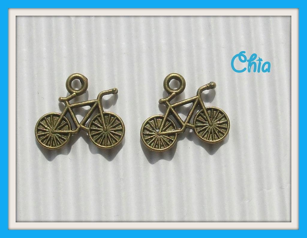 8 charms bicicletta bronzo