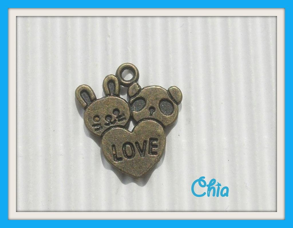 4 charms animaletti love bronzo