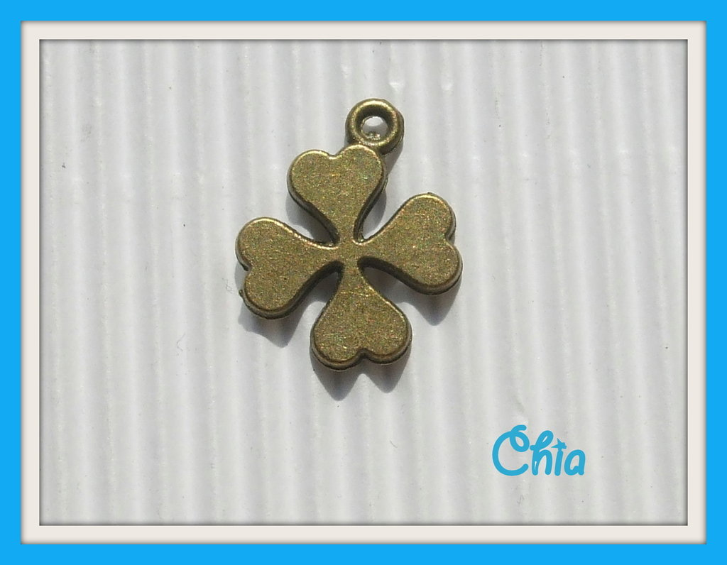 4 charms quadrifoglio bronzo