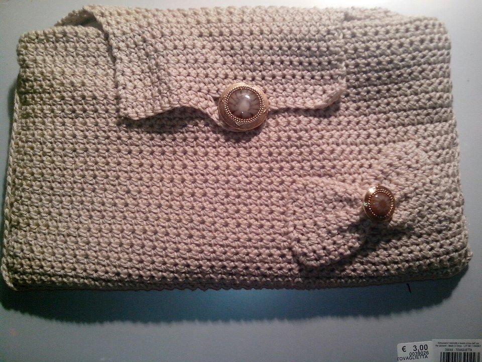 Pochette cotone, color sabbia