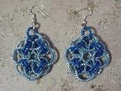 orecchini in catena azzurra fatti a mano