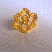 Anello Crochet Fiore Giallo