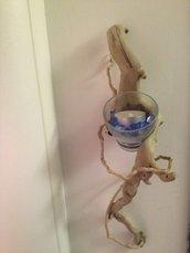 porta candela ramo a muro