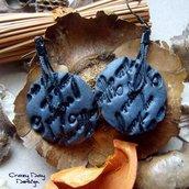 Letter In Blue earrings