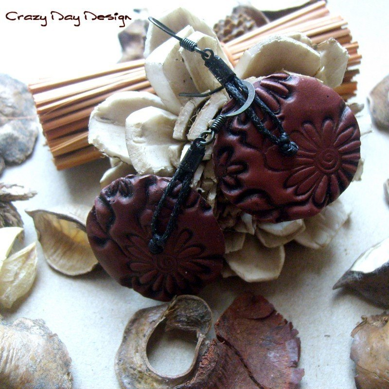 Autumn Daisies earrings