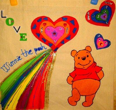 borsa in cotone winnie the pooh
