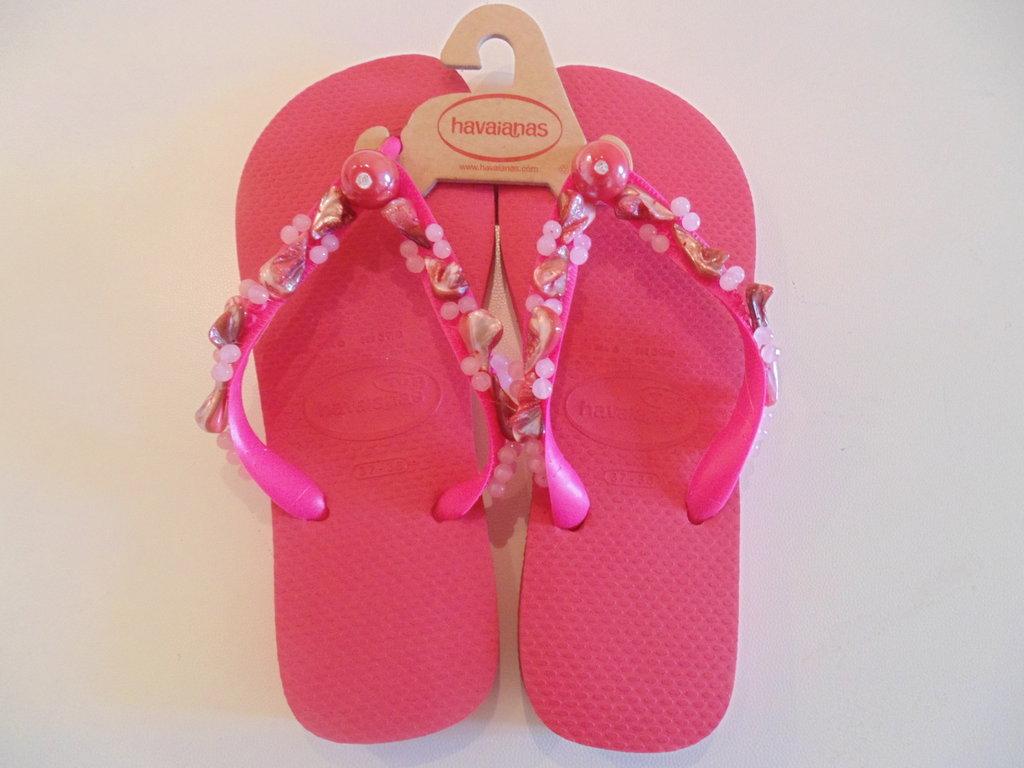 Havaianas flip flops ricamata pink n.37-38