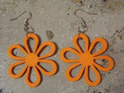 orecchini summer con fiore arancio