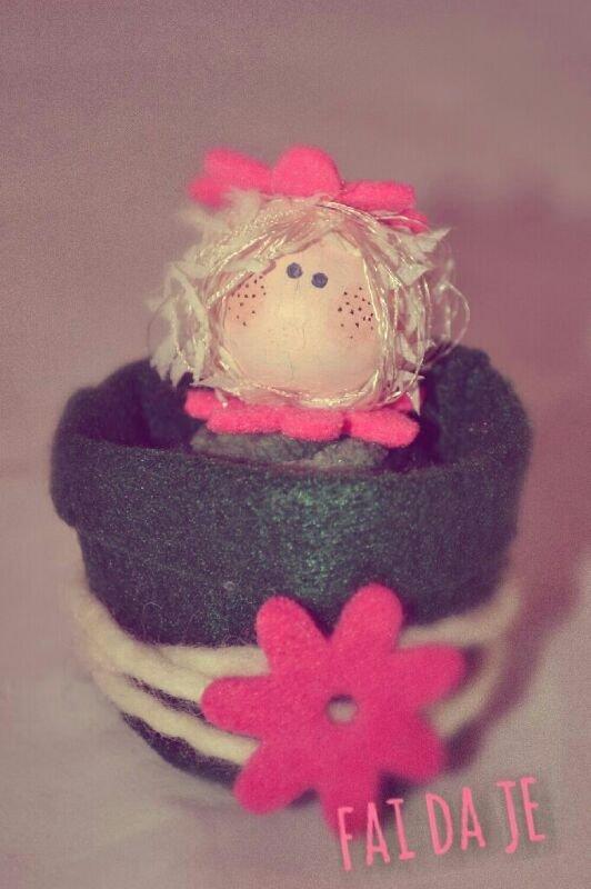 bomboniera angioletto nel vasetto