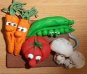 Targhetta cucina, simpatico tagliere con verdure