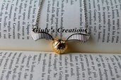collana con BOCCINO D'ORO REALISTICO di Harry Potter real golden snitch HARRY POTTER