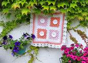 Copertina per Neonato Accessori Culla per neonati e bambini Crochet Fatto a mano Photo prop Copertina con Rose Hippy chic
