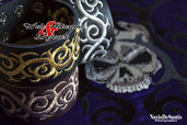 Bracciali in cuoio mod.Tattoo by Arte Ricamo & Bijoux