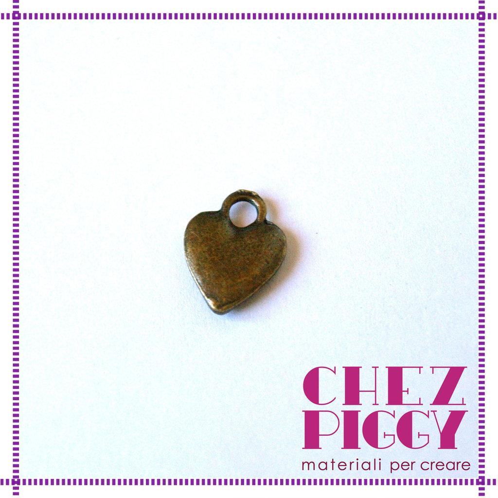 1 x charm ciondolo a cuore - bronzo