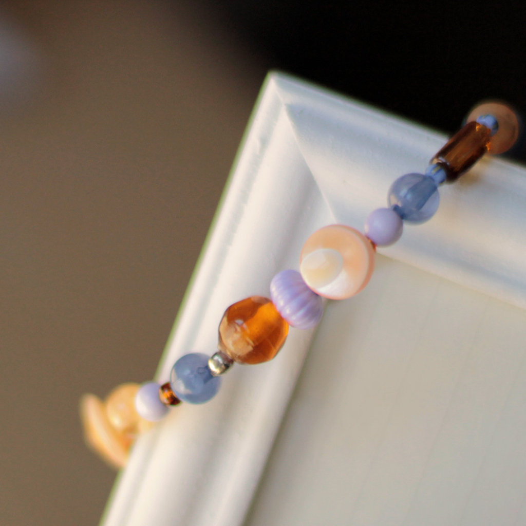 B36.14  - Bracciale elastico con perle in vetro