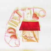 Sacchetto regalo di stoffa per ghirlanda di lettere di stoffa imbottite