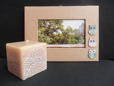 Porta foto con gufetti