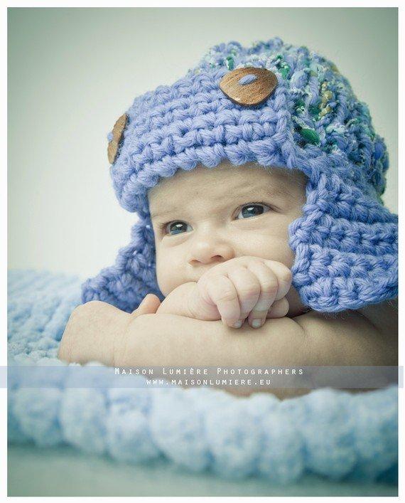 Cappellino neonato fatto a mano Accessori neonato Abbigliamento Bambino Aviatore marinaio