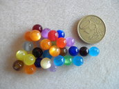 30pz Perle acrilico 8mm colore mix