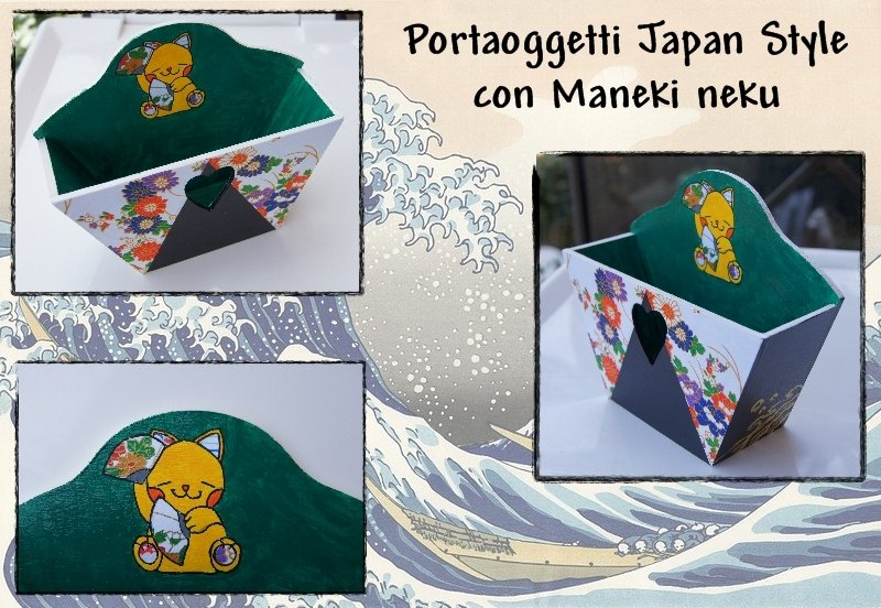 Portaoggetti Japan Style con Maneki neko