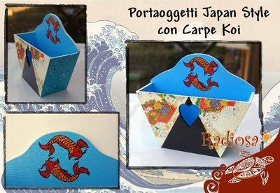 Portaoggetti Japan Style con Carpe Koi
