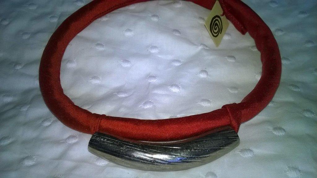 collana/girocollo ceramica raku, pura seta