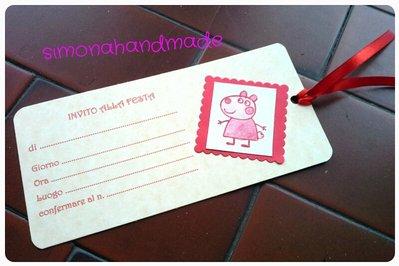 biglietto invito a festa peppa pig