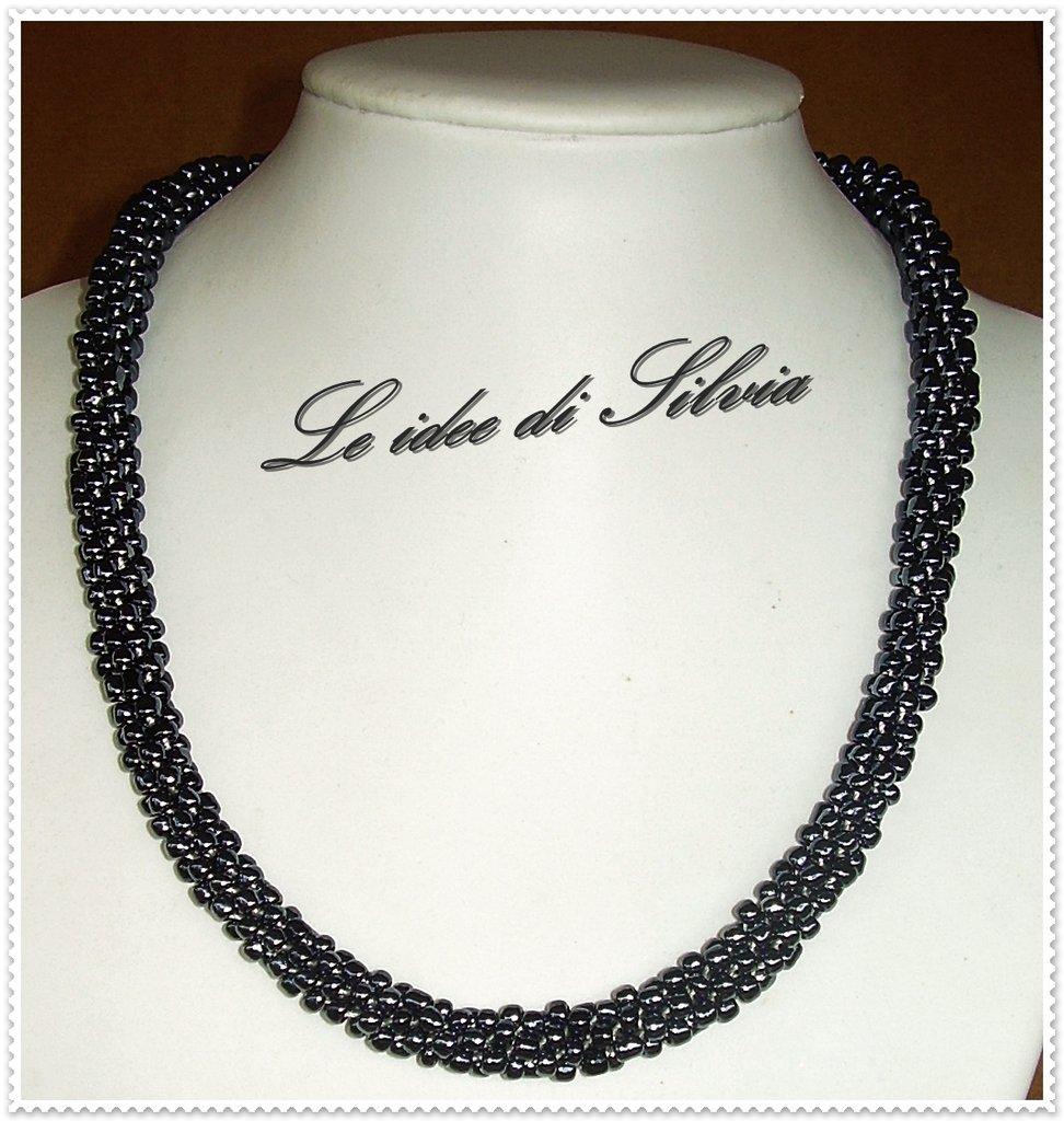 Collana spirale di perline