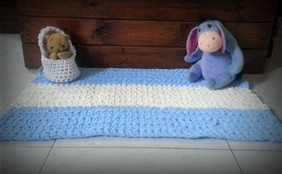 Tappeto Alluncinetto Rettangolare : Tappeto rettangolare in fettuccia a crochet art per la casa
