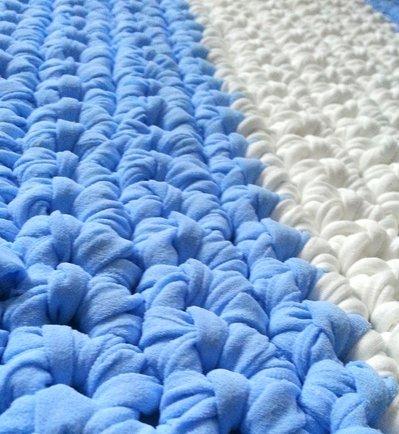 Tappeto Rettangolare In Fettuccia A Crochet Art51 Per La Casa