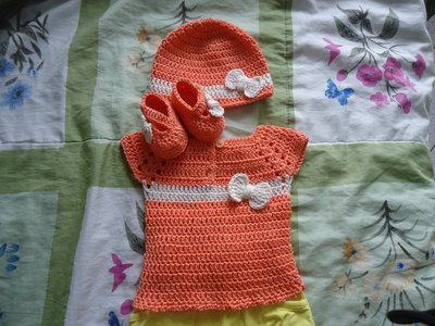 baby girl chrocet set