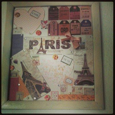 Quadretto scrupooking Parigi