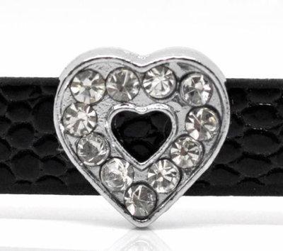5  Perle cuore strass 12 mm adatto a Cinturini a fibbia in prenotazione