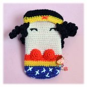 cover smartphone uncinetto amigurumi Wonder Woman