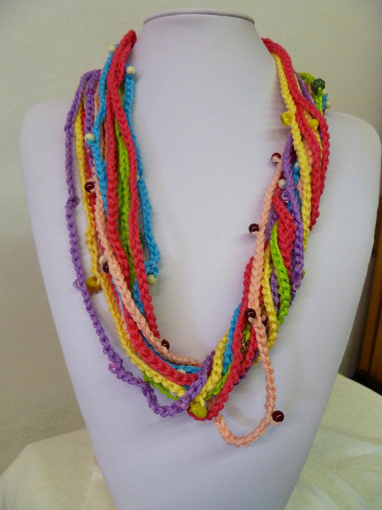 collana  fili multicolor