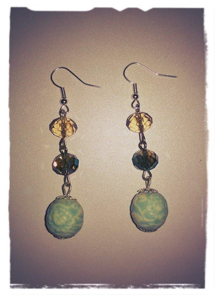 Orecchini perle e pietre