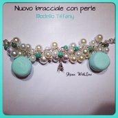 Bracciale a catena simil Tiffany con perle