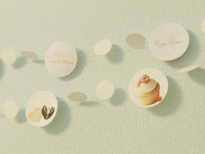 Ghirlande ''dolcetti'' (prodotto personalizzabile sul tema biscotti, dolcetti, macaron, cupcake ...) da 5m