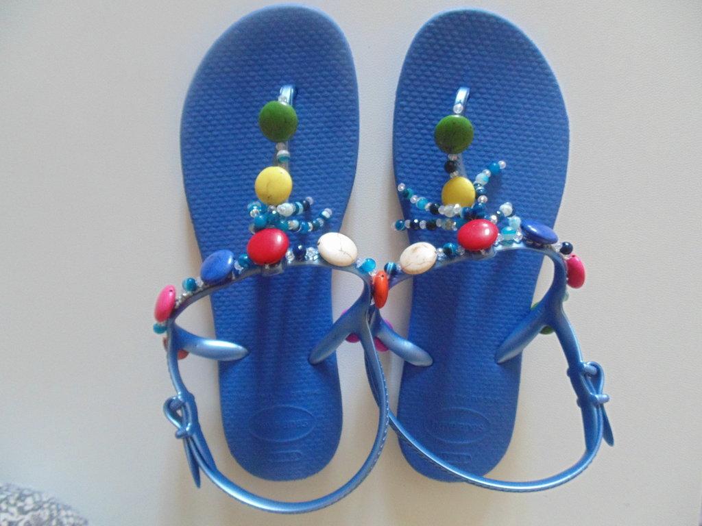 Havaianas flip flops ricamata n.37-38 Blu
