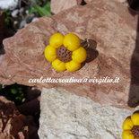 Anello fiore in fimo taglia unica/regolabile!