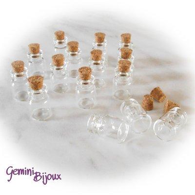 Bottiglietta piccola in vetro 15x22