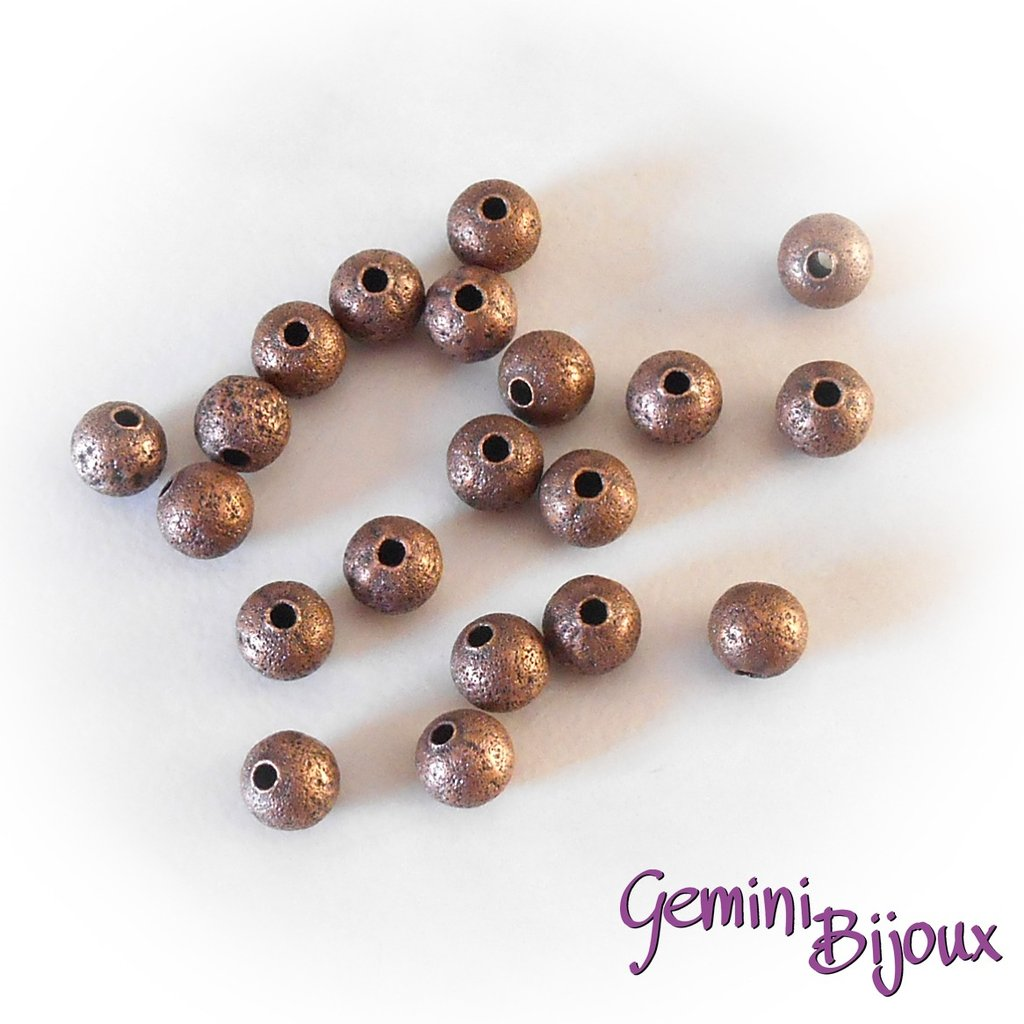 Lotto 10 perle stardust 6mm bronzo