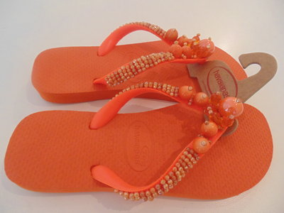 Havaianas flip flops ricamata n.37-38 Arancio