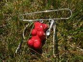 broche ourson rouge