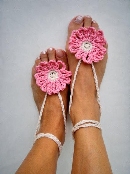 Paio cavigliere gioiello Gioiello per il piede Hippy chic Rosa