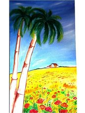 Palma con papaveri-ROSALIA COSTANZA
